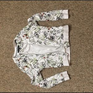Max jeans lightweight floral bomber, size small